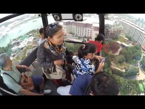 Harbourfront to Sentosa by cable car (full video)