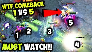 The Most Unbelievable Comeback Ever In History!!! - Epic Mega Def 1vs5 Rampage More Hype Than Ti