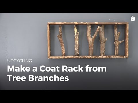 DIY Projects: Make a Coat Rack from Tree Branches   Upcycling