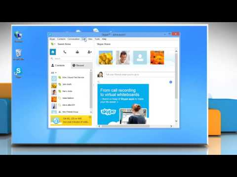 How to call a phone number using Skype® on a Windows® 8 PC