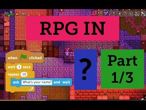 How to make a 2D RPG in scratch (1 of 3): Making the scrolling background