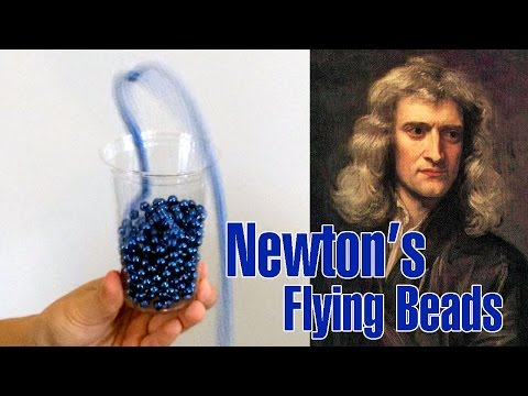 Newton's FLYING BEADS!  Easy Kids Science Experiments