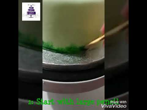 How to paint grass in fondant?