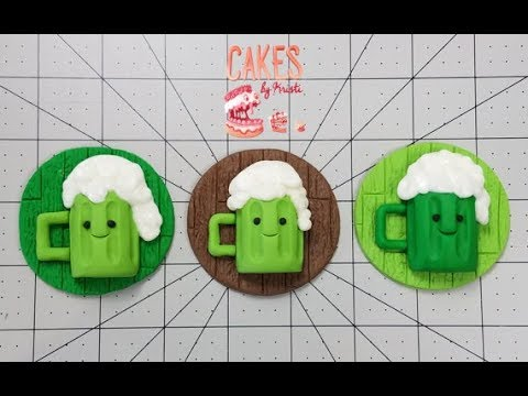 St. Patrick's Day Beer Cupcake Toppers (Full Length)