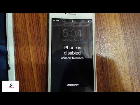 Unlock A disabled iPhone 5 fix 100% | Factory Reset iPhone without Passcode New method 2018
