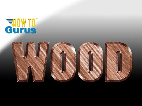 Photoshop Text : How to do a Carved Wood Effect : CS5 CS6 CC 2018 Tutorial