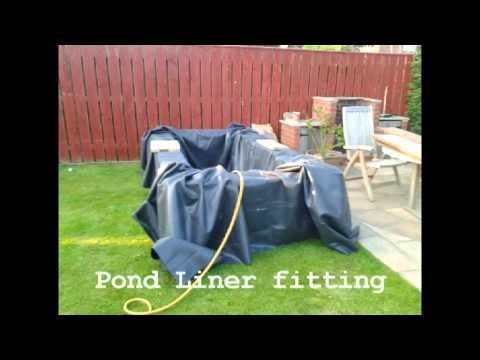 My Raised Pond Project with Wooden Railway Sleepers