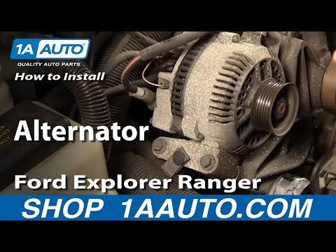 How To Install Replace Alternator Ford Explorer Ranger Truck Van Mazda 4.0L 94-05 1AAuto.com