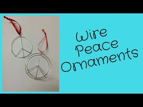 DIY Peace Sign Ornament Tutorial seen at Urban Outfitters, Montreal