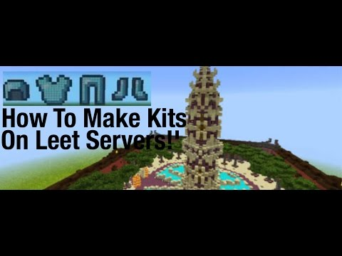 Minecraft PE - How to make kits!! On Leet server!!!!