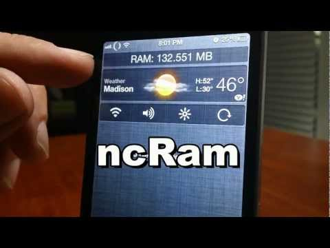 ncRam | FREE Cydia NC Widget For iPhone And iPod Touch