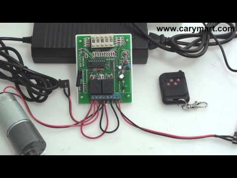 RF Remote Control Kit Controls DC Motor with Adjustable Time Delay Function