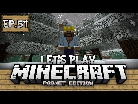 Survival Let's Play Ep. 51 - WINTER WONDERLAND!!! - Minecraft PE (Pocket Edition)