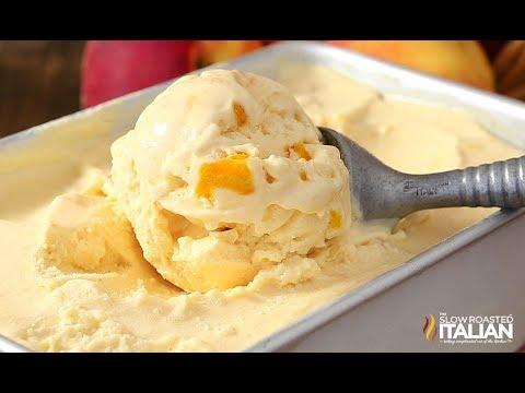 No-Churn 2-Ingredient Peaches & Cream Ice Cream