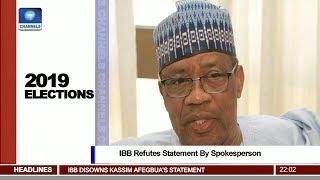 Babangida Refutes Statement By Spokesperson Pt 1 News@10