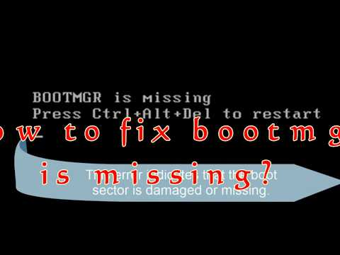 How to Fix  'BOOTMGR is missing' in Windows 7/8/10