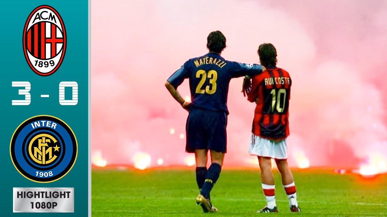 AC Milan vs Inter Milan 3-0 (agg) Highlights & Goals - Quarter-finals   UCL 2004/2005