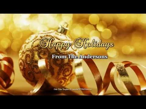 AMAZE Your Friends & family Send a Christmas Greeting Video - Low Cost Video Templates