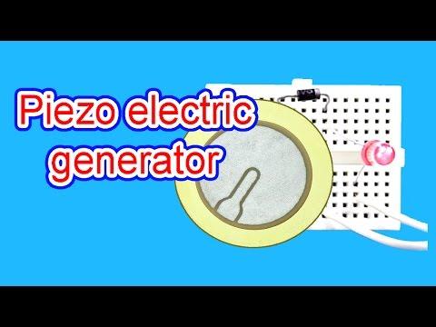 Piezo electric generator|how to make