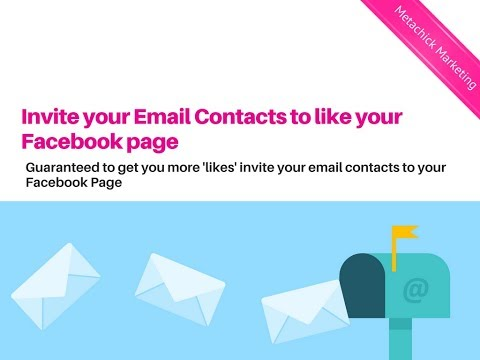 Invite Email Contacts to 'like' your Facebook page