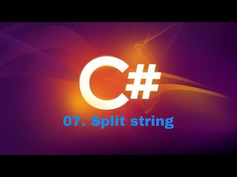 how to split string in c#