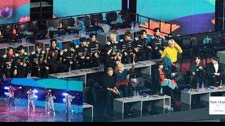 방탄소년단 X 세븐틴 React to (아이즈원, 스트레이키즈 무대) (길+ 뱅뱅뱅 +행복 +MIROTIC ) GDA