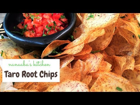 ✔HOW TO MAKE  THE BEST TARO ROOT CHIPS