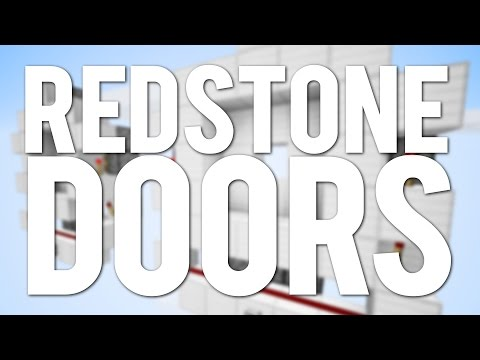 Minecraft: Top 5 Simple Redstone Doors And Trapdoors