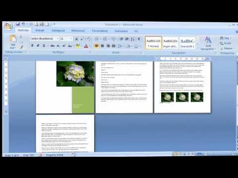 Hvordan du laver en hurtig A5 folder i Word