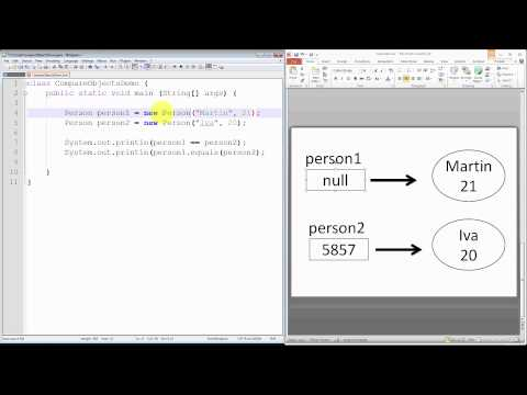 Java Programming Tutorial - Compare Objects - Equality Operator Vs Equals Method