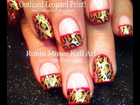 Nail Art! Outlined Leopard Print Nails! Retro Nail Design Tutorial