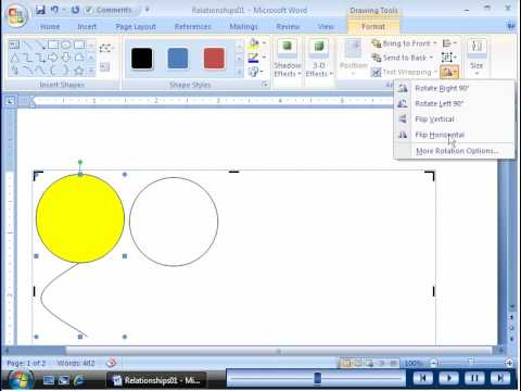 Word 2007 - Drawing and Modifying Shapes