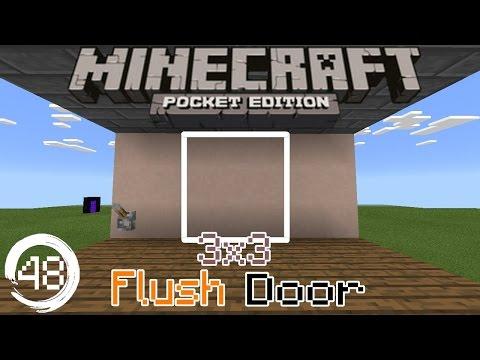 Mcpe 15.0+ Redstone Tutorial: How to build a 3x3 Flush Door