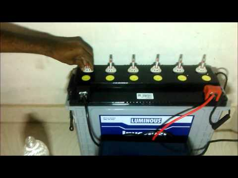 HOW TO FILL BATTERY WATER IN HOME INVERTER/UPS BATTERY