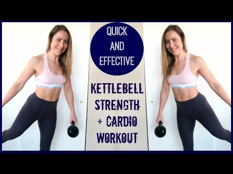 Kettle Bell Strength and Cardio HIIT // Quick and Effective