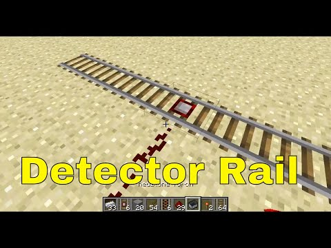 Minecraft - Crafting Detector Rails and Activator Rails