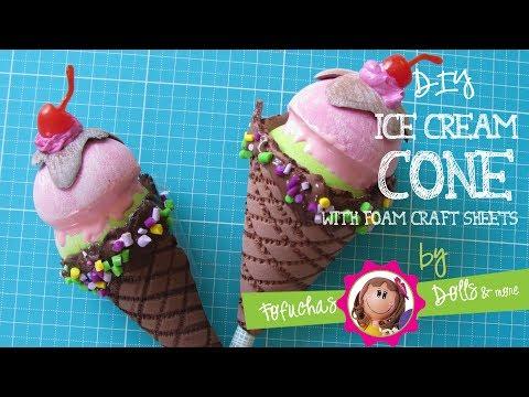 Ice Cream Cone - DIY Fun Craft Foam Sheets