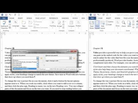 Compare Two Documents at Once in Microsoft Word