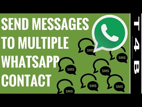 How to Send Messages to Multiple Contacts on Whatsapp | Android