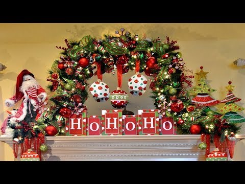 2017 Christmas Mantel Decorations Garland