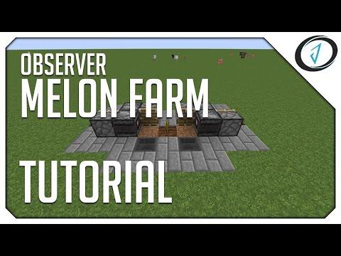 ►Minecraft: OBSERVER MELON FARM! (MC Tutorial) ◄