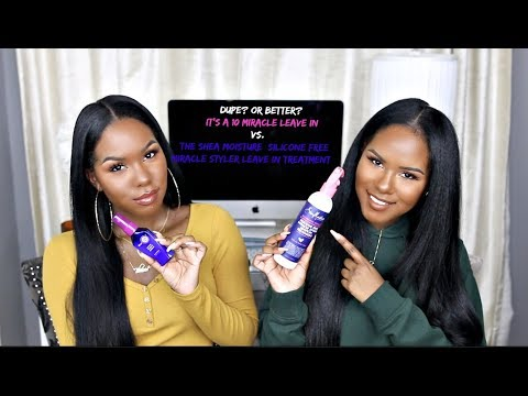 Dupe or Better?  SheaMoisture Miracle Styler vs. It's A 10 Leave-In