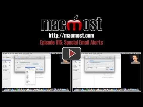 Special Email Alerts (MacMost Now 815)
