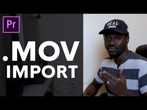 how to import .MOV files in adobe premiere pro for Win/Mac