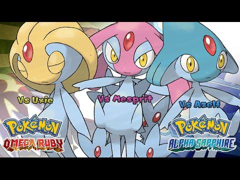 Pokemon Omega Ruby/Alpha Sapphire - Battle! Uxie/Mesprit/Azelf Music (HQ)