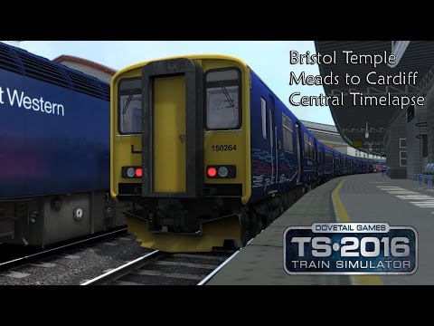 Train Simulator 2016: First Great Western Class 150/2 Cardiff Central to Bristol TM (SWC) Timelapse
