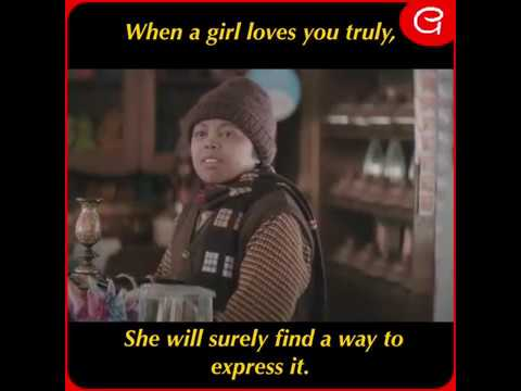 When a girl loves you truly , she will surely find a way to express it.