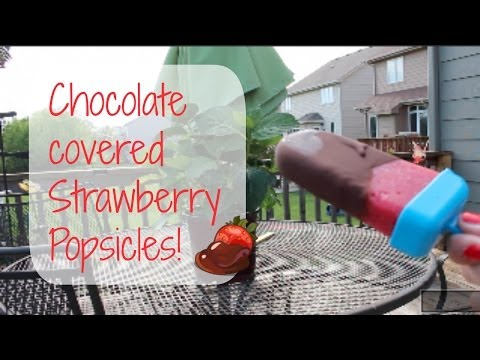 How to make Chocolate covered Strawberry Popsicles!