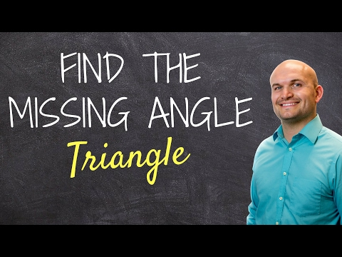 Finding the measure of angle when given two side lengths of a triangle - math help