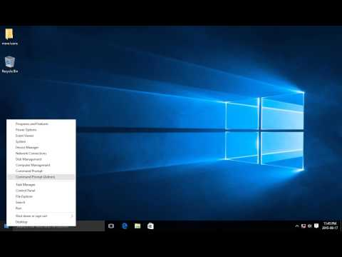 Windows 10 - How to run a Command Prompt with Admin Privileges (Elevated Command Prompt)